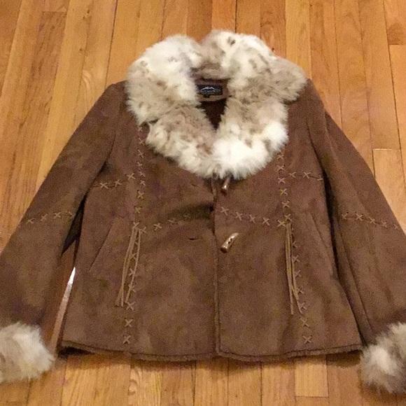 Montanaco Jackets & Blazers - Faux leather, faux fur jacket